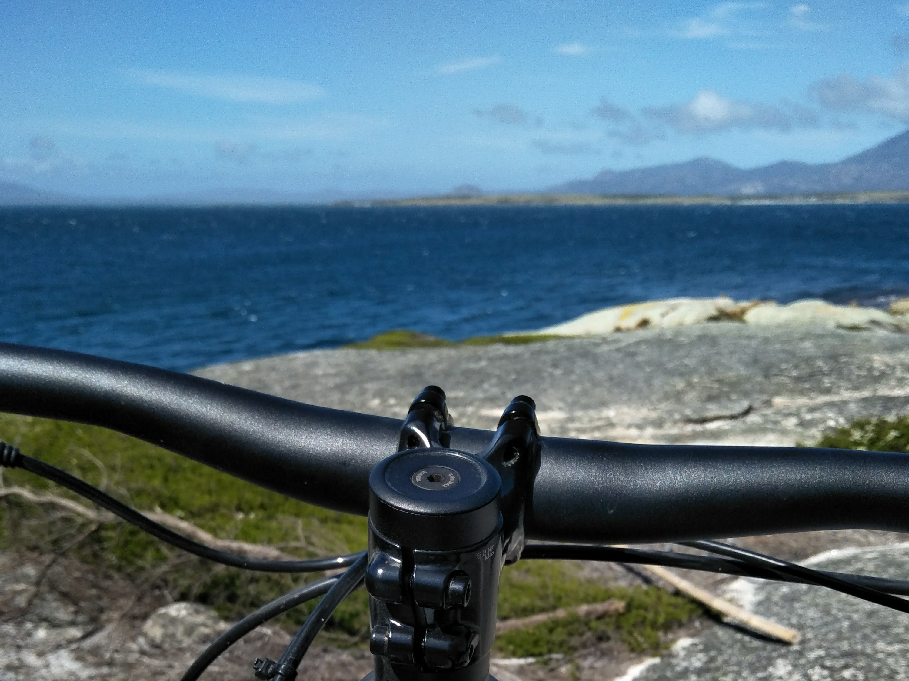 mountain biking flinders island views